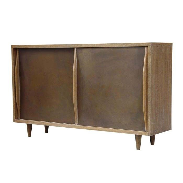 the jean buffet from oly studio is a sliding door buffet with rubbed brass door panels oly studiofurniture storesliving - Oly Furniture Sale