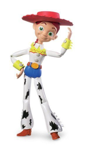 JESSIE Toy Story 3 Posable Action Figure - Disney / Pixar by Mattel. $27.99. Jessie Toy Story 3 Action Figure. Ages 4+. Full articulation. 6-inches in height. The personality and fun of your favorite Disney Pixar's Toy Story 3 character!. If you're a fan of Toy Story 3, you'll love our Disney Pixar Toy Story 3 Basic Action Figure - Jessie! Kids will love recreating their favorite movie scenes and making up new stories! The Disney Pixar Toy Story 3 Basic Action Figure - Jessie ...