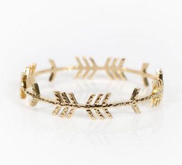 Follow Me Bangle Gold   Beginning Boutique
