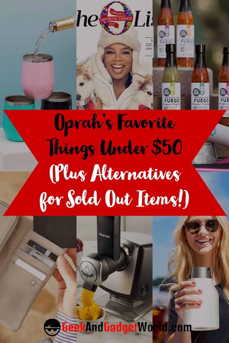 Oprah's Favorite Things Under $50 – Cheap and Affordable 2017 - You want some of the things on Oprah's Favorite Things list, but you don't wanna break the bank. We got you! Plus we'll give you some quality alternatives for all the products that are sold out! http://geekandgadgetworld.com/oprahs-favorite-things-50-cheap-affordable-2017/