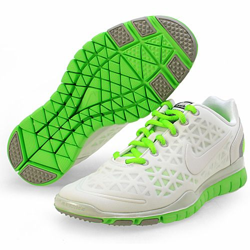 NEON! These are Nike Lady Free TR FIT 2 Cross Training Shoes. I love those bright green shoelaces! I found them on Amazon - click for link :)