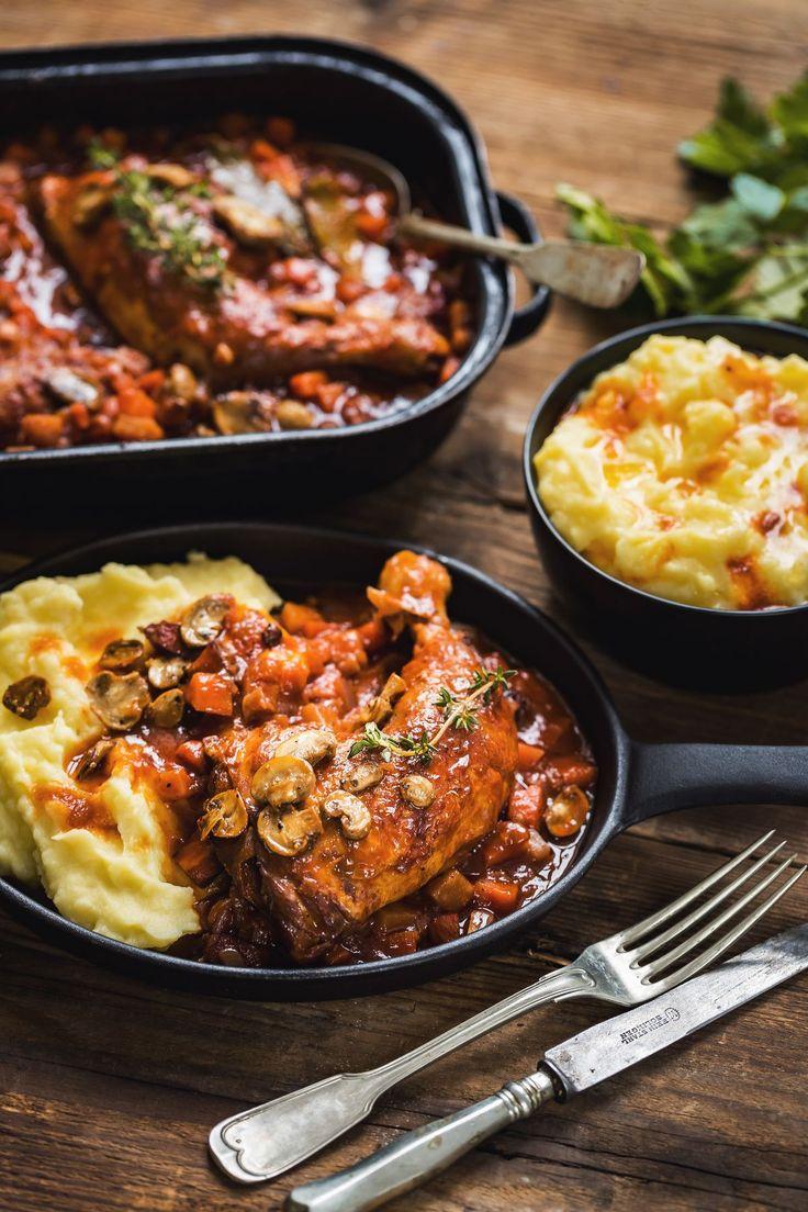 Coq au vin: Šťavnaté kuře v božské omáčce