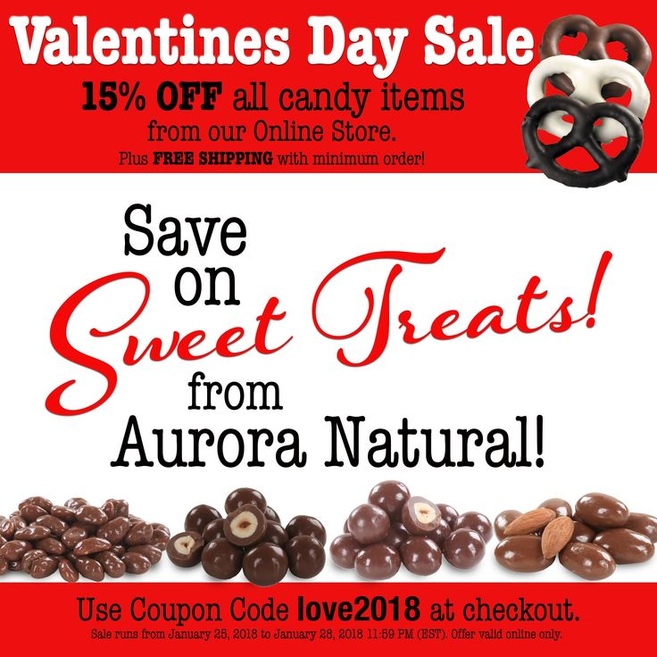 Grab some Sweet Treats for you or someone you love! Choose from our Organic Dark Chocolate Almonds, Milk Chocolate Cashews or browse the online store to try something new!   Save 15% with coupon code LOVE2018. Enjoy!  #auroranatural #organicdarkchocolate #allnatural #sweettreats #valentinesday #chocolatelover  #valentinesdaytreats #valentinesdaydeals #happyvalentinesday #valentinesday #valentines #valentinesdaygift #valentinesdaydate #valentinesdaydinner #chocolate #flowers #love #hearts