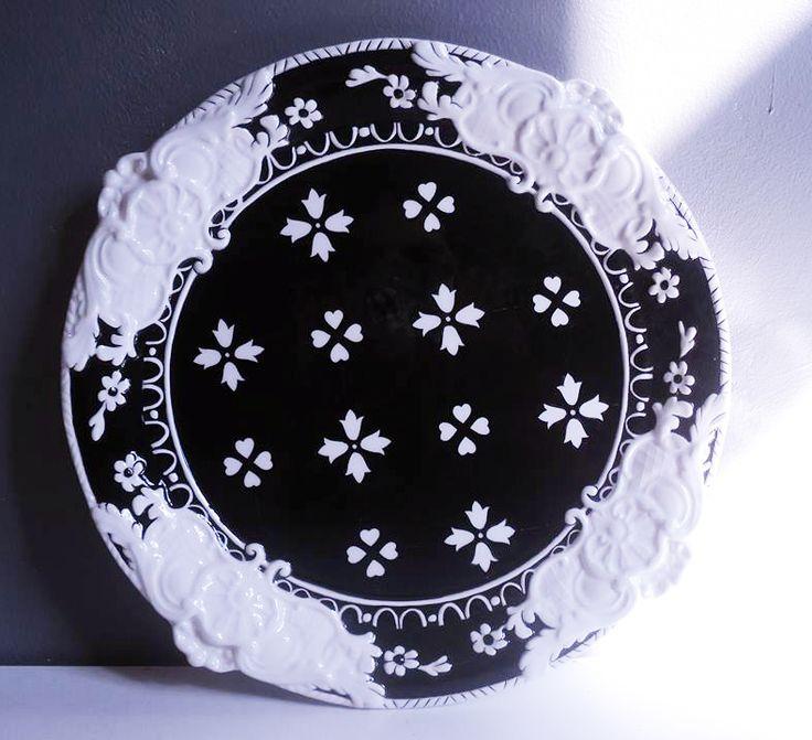 Rölyefli Vintage Tabak / Ç:38 cm.