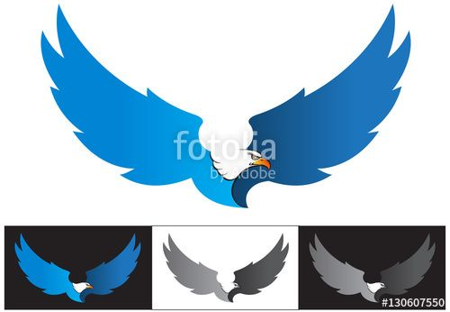 Vector: Vector Illustration, Flying Eagle