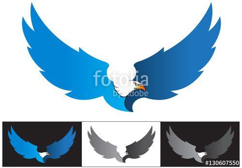 Vector: Vector Illustration, Flying Eagle