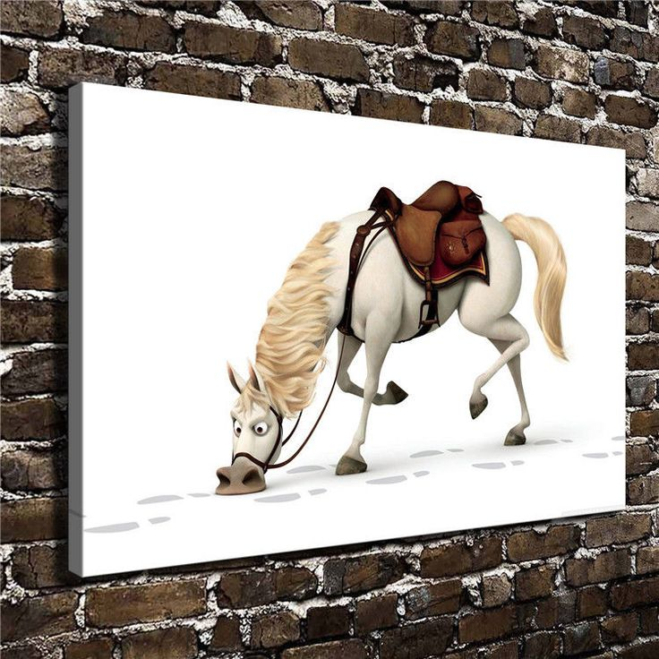 Canvas Hd Picture Print Art Painting Home Decor Tangled Maximus 20''X32''