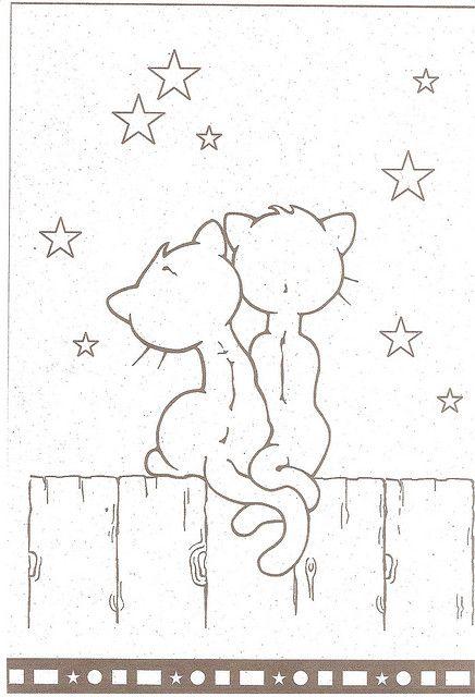 romantic cats template