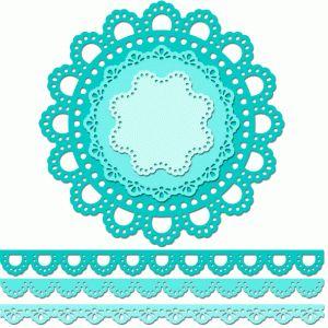 Silhouette Design Store - View Design #60230: 12 inch doily border set eyelet edge