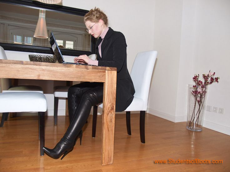Secretary With Boots Thigh High Pinterest Boots