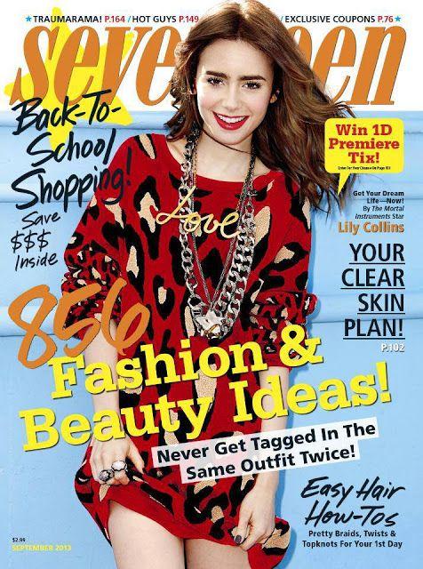 The Mortal Instruments News en Español: Lily Collins es la portada del mes de septiembre de la revista Seventeen