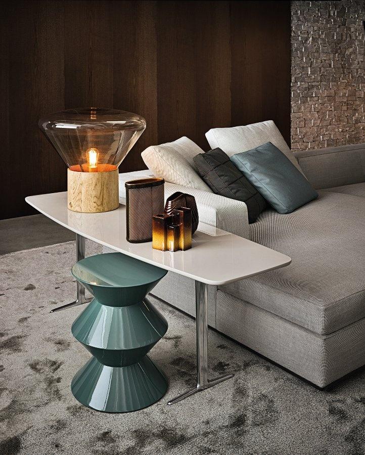 Wilson console by Minotti #design #interiors #stool #lamp