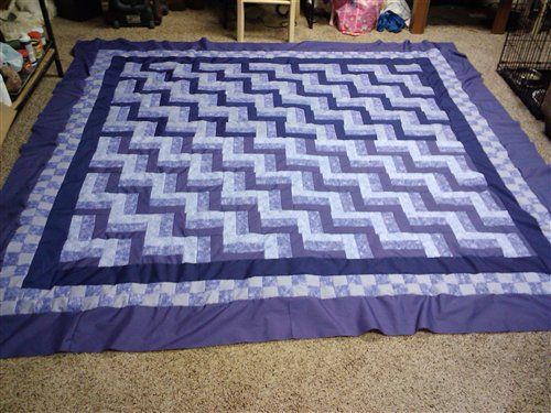 king size rail fence purple quilt quilters club of america