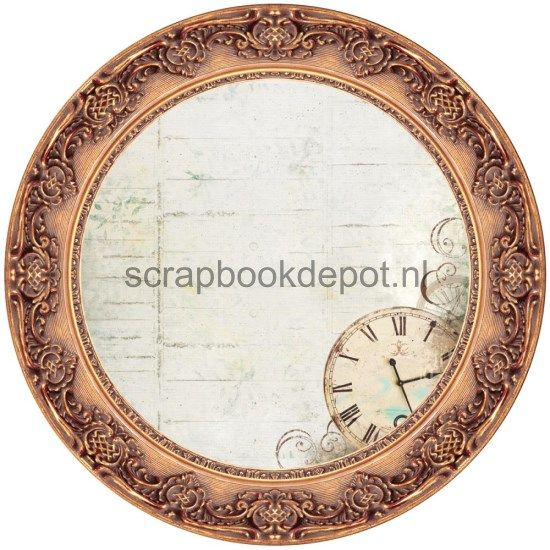 Antique Bazaar - Bronze Round Frame Die-Cut Paper
