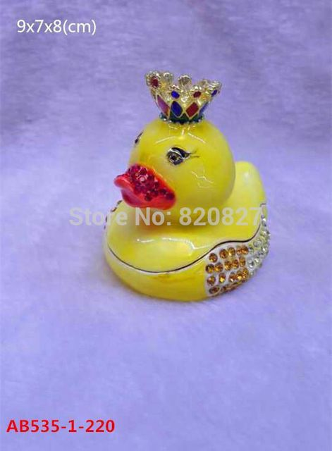 cute duck box fashion simulation ducks queen ornaments home decoration party supplies christmas decorations gift metal crafts