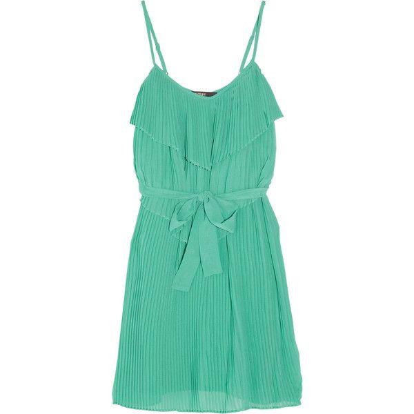 SuperTrash Dee Pleated Georgette Dress ($78) ❤ liked on Polyvore