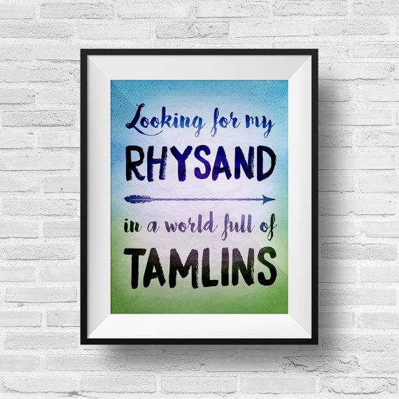 ACOMAF Looking for Rhysand Typography Quote Art 8 x 10 Watercolor Print - A Court of Mist and Fury Inspired ACOTAR Feyre Rhys Tamlin