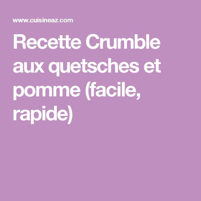 Recette Crumble aux quetsches et pomme (facile, rapide)