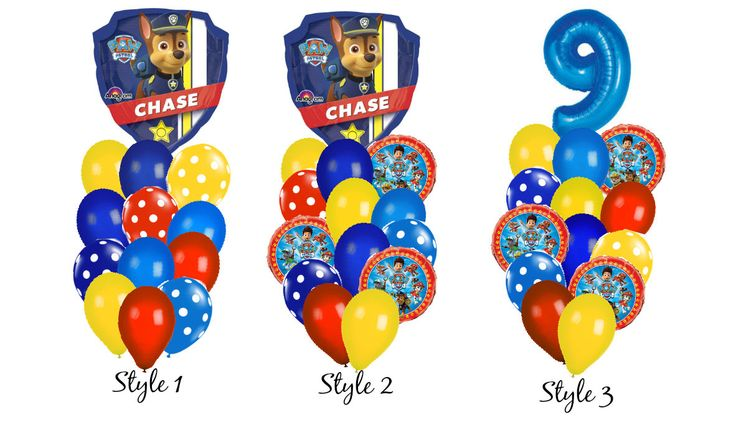 Paw Patrol Balloon Bouquet by CutePartyBoutique on Etsy https://www.etsy.com/listing/477447007/paw-patrol-balloon-bouquet