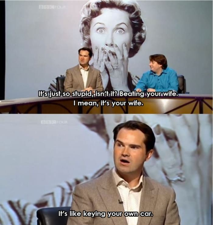 Jimmy Carr On Wife Beating