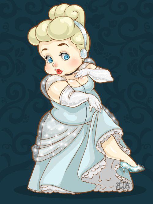 Cute Plus-Size Disney Princesses Fan Art