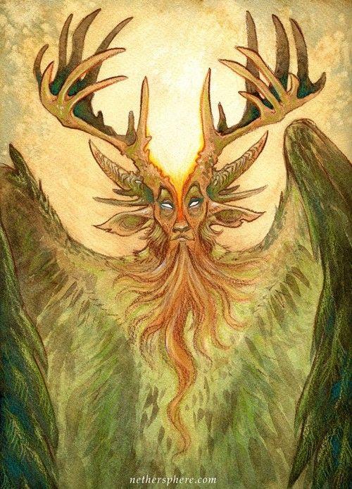 Cernunnos, The Horned God (Crown of Horns, Stephanie Lostimolo)