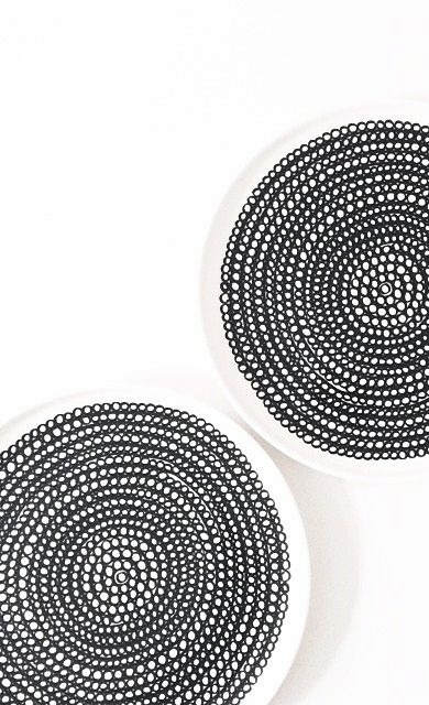 Via 24grad | Black and White | Marimekko Siirtolapuutarha Plates