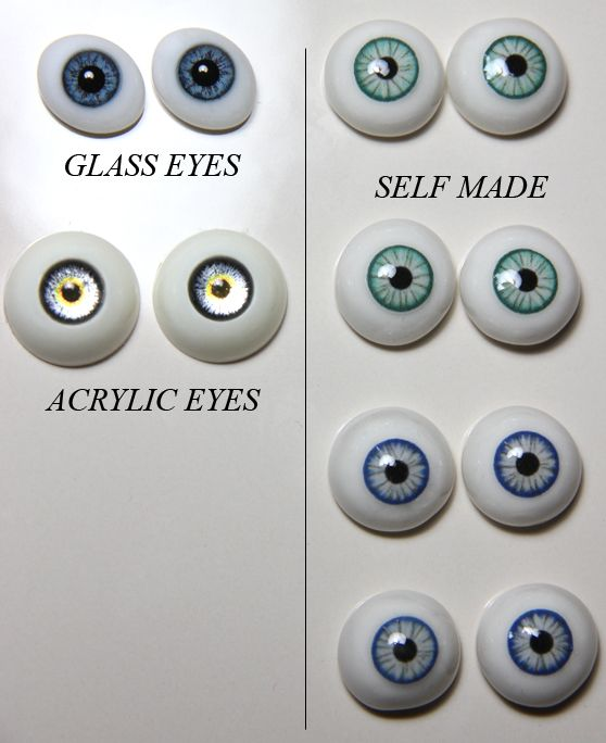 "There are a lot of other (and better) free tutorials online on how to make your own doll eyes, but this is just how I do mine. [[MORE]] STEP 1: Get some polymer clay. I use this ""Proto"" brand (made in..."