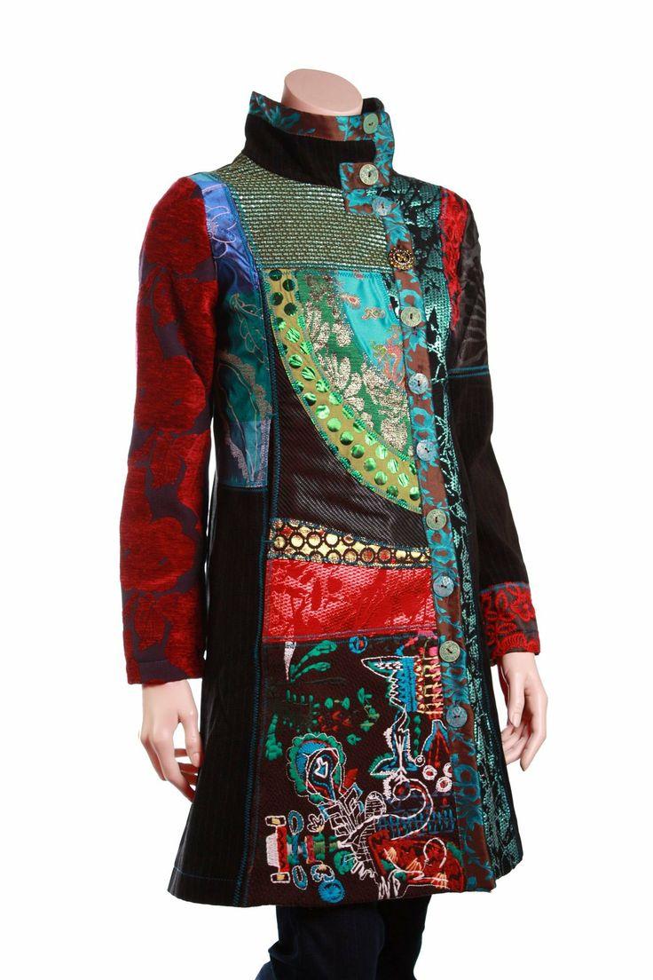 Desigual Berta Coat | Upcycle Blazer/Jacket Silhouettes ...