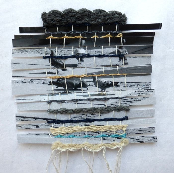 urban pattern. Ines Seidel - photographs woven with various yarns