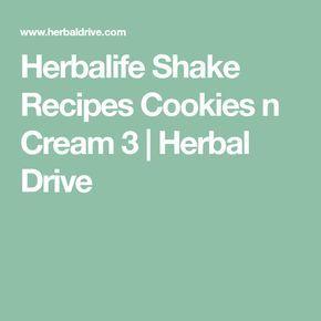 Herbalife Shake Recipes Cookies n Cream 3 | Herbal Drive