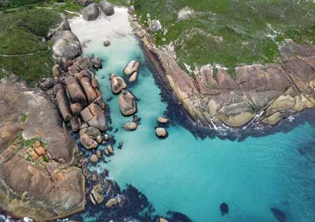 Elephant Rocks from Above