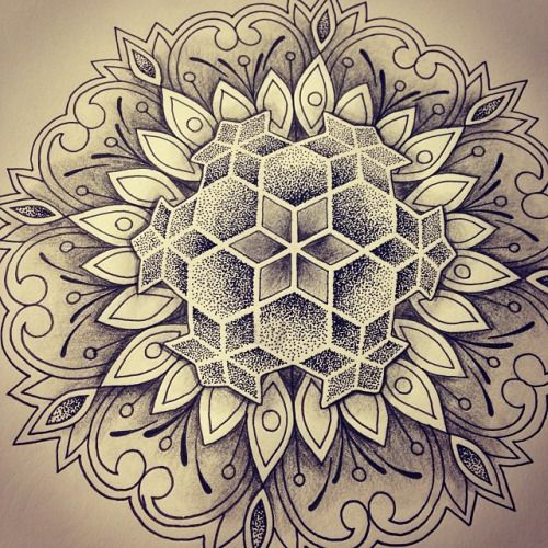 35 Spiritual Mandala Tattoo Designs: Combo Of Dot Work And Geometric Is Perf!