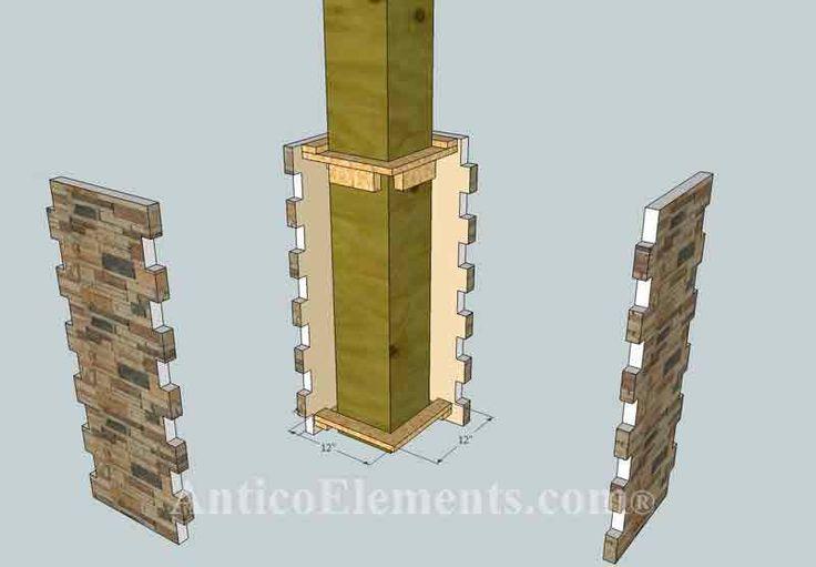 Best 25 faux stone panels ideas on pinterest for Faux wood exterior columns