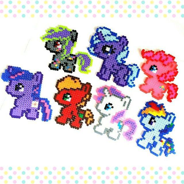 My Little Pony perler beads by haha.1020