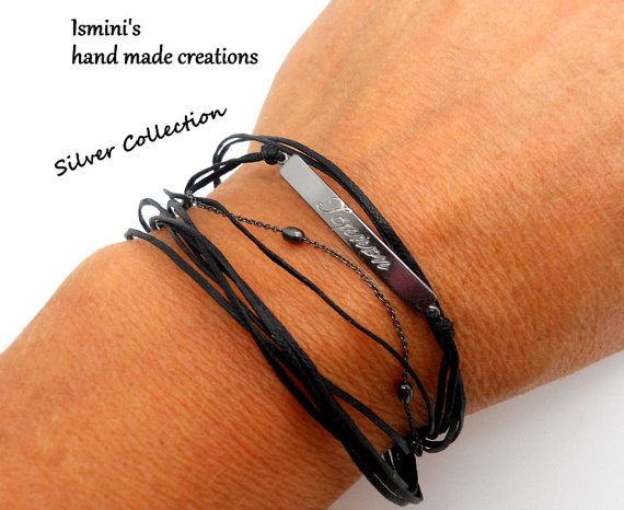 Personalized ID Sterling Silver Bracelet by IsminisHeartmade
