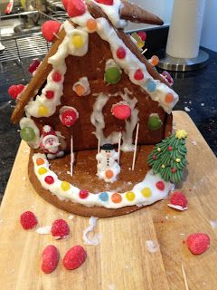 Last year at work I purchased a gingerbread house kit from Lidi for £5 and the gingerbread parts are already made so you just have to con...