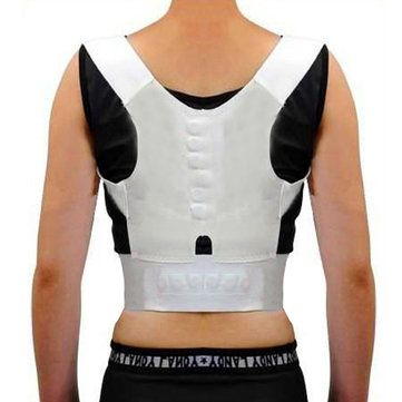 Unisex Magnetic Therapy Posture Pain Corrector Adjustable Back Shoulder Straighten Support