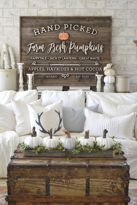 Love that sign!  The neutral colors and simple decor are awesome!