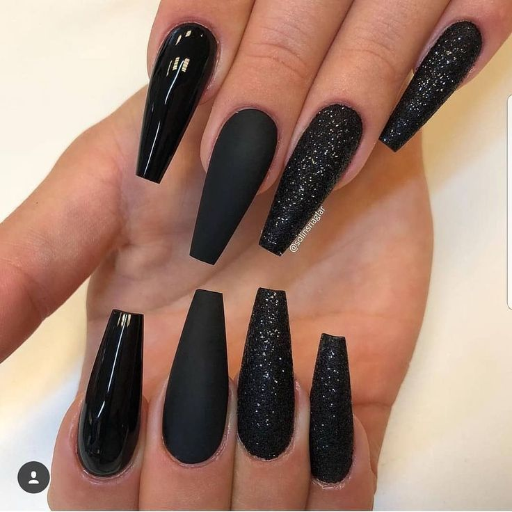 30 Creative Designs For Black Acrylic Nails That Will Catch Your Eye Long Black Nails Black Acrylic Nails Gorgeous Nails