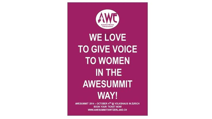 We love to give voice to women