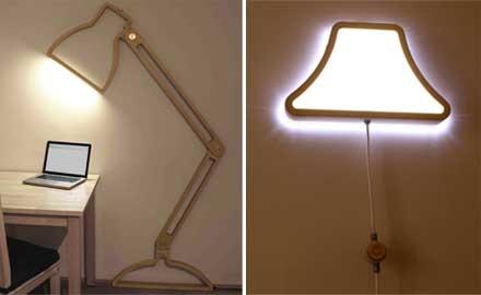 壁面を利用したスタイリッシュな照明「Nepa Lamp/Candor」
