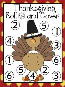 Celebrate Thanksgiving with this cute  independent center.Students roll 1,2 or 3 dice, add the numbers, and cover up the sum. First to cover all their numbers, wins! Each game board has the number of dice to roll.The following is what is included by page number. 4: Turkey Mat- 1 dice version5: Turkey Mat- Number word (1 dice version)6: El pavo- 1 dice version7: El pavo- Number word (1 dice version)8: Pilgrim Girl Mat- 2 dice version9: Pilgrim Girl Mat- Number word (2 dice version)10…