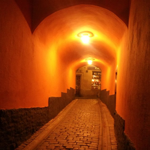 'Passage in Stockholm, by night' on Picfair.com