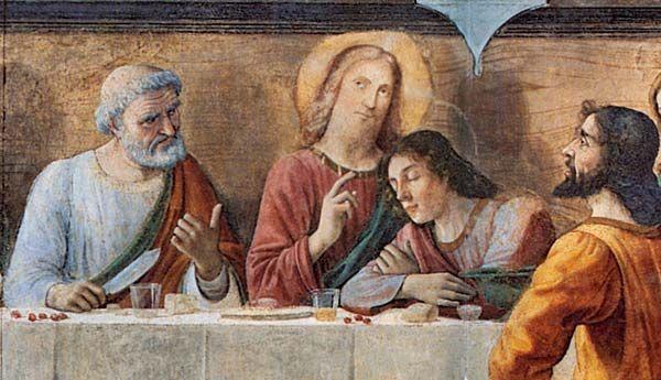 Domenico Ghirlandaio - Ultima cena (dettaglio) - affresco - 1480 - Refettorio dell'ex convento di Ognissanti