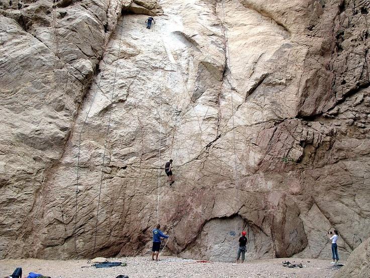 Rock climbing in Dahab.. www.vantage-travels.com