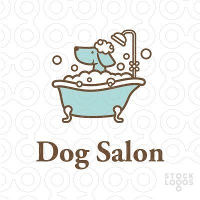 #logo Dog Salon - #Purchase your logo in: http://stocklogos.com/user/rossini