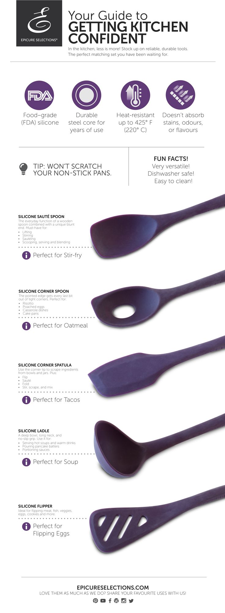 35 best Silicone cooking utensils images on Pinterest | Cooking ware ...