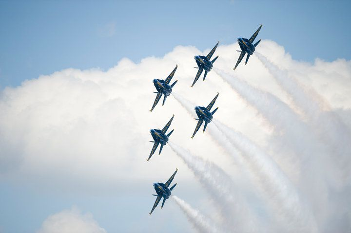 The Navy's Blue Angels at the Traverse City National Cherry Festival, Michigan