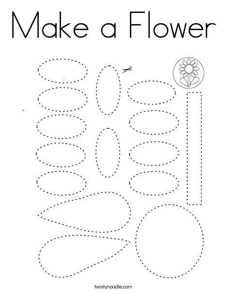 Make a Flower Coloring Page - Twisty Noodle (With images ...